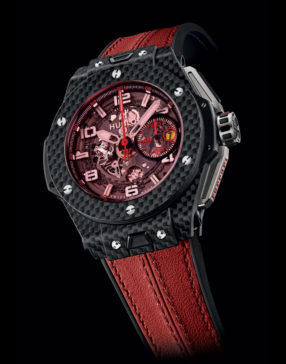 hublot big bang ferrari 39 carbon red magic 39 lionel meylan vevey. Black Bedroom Furniture Sets. Home Design Ideas