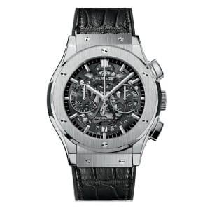 hublot-Classic-Fusion-Chrono-Aero-Titanium-525.NX_.0170.LR Lionel Meylan Horlogerie Joaillerie Vevey