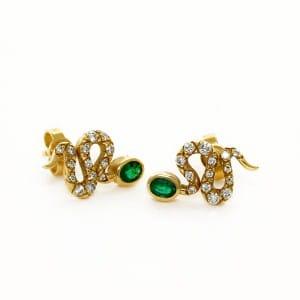 110769-Clous-doreilles-motif-serpent-bijou-occasion-lionel-meylan-vevey