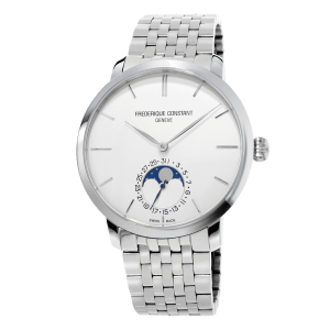 Frederique-Constant-Manufacture-Slimline-Moonphase-FC-705S4S6B Lionel Meylan Horlogerie Joaillerie Vevey