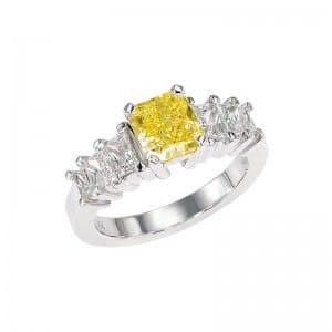 Bague diamant jaune  Lionel Meylan Horlogerie Joaillerie Vevey