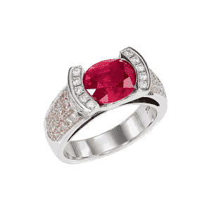 Bague rubis de Birmanie  Lionel Meylan Horlogerie Joaillerie Vevey