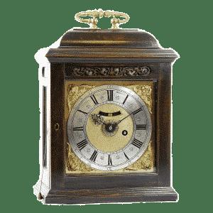 Pendule-de-Cheminée-Anglaise-début-18ème-siècle  Lionel Meylan Horlogerie Joaillerie Vevey