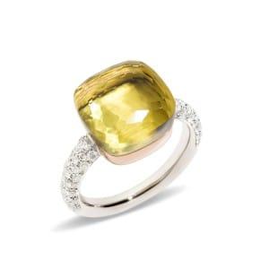 Pomellato-Nudo-Bague-quartz-lemon-A.B401-B9O6QL Lionel Meylan Horlogerie Joaillerie Vevey
