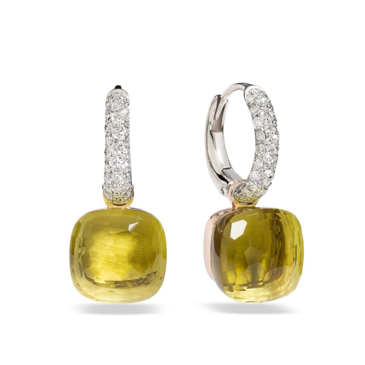 Pomellato-Nudo-boucles-d-oreilles-quarz-lemon-O.B401-B9O6QL Lionel Meylan Horlogerie Joaillerie Vevey