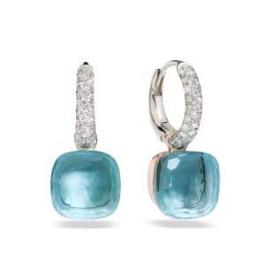 Pomellato-Nudo-boucles-d-oreilles-topaze-bleu-clair-O.B401-B9O6OY Lionel Meylan Horlogerie Joaillerie Vevey