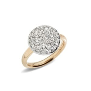 Pomellato-Sabbia-Bague-avec-diamant-A.B204-O7-B9 Lionel Meylan Horlogerie Joaillerie Vevey