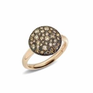Pomellato-Sabbia-Bague-avec-diamant-brun-A.B204-O7-BR Lionel Meylan Horlogerie Joaillerie Vevey