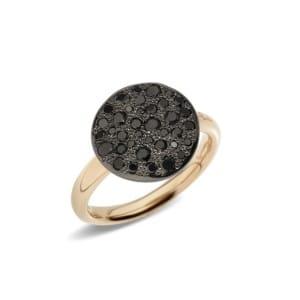 Pomellato-Sabbia-Bague-avec-diamants-noir-A.B204-O7-BB Lionel Meylan Horlogerie Joaillerie Vevey