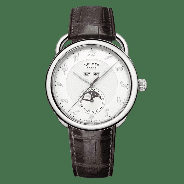 hermes-Arceau-Grande-Lune-AR8.810.220-MHA-036756WW00 Lionel Meylan Horlogerie Joaillerie Vevey