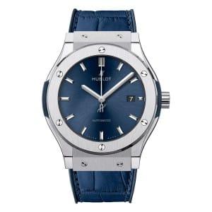 Hublot-Classic-Fusion-Blue-542-NX-7170-LR-SD-HR-W Lionel Meylan Horlogerie Joaillerie Vevey
