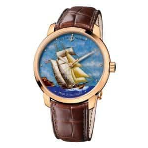 Ulysse-Nardin-Pride-Of-Baltimore-Classico-Cloisonne-UN-8156-111-2 Lionel Meylan Horlogerie Joaillerie Vevey