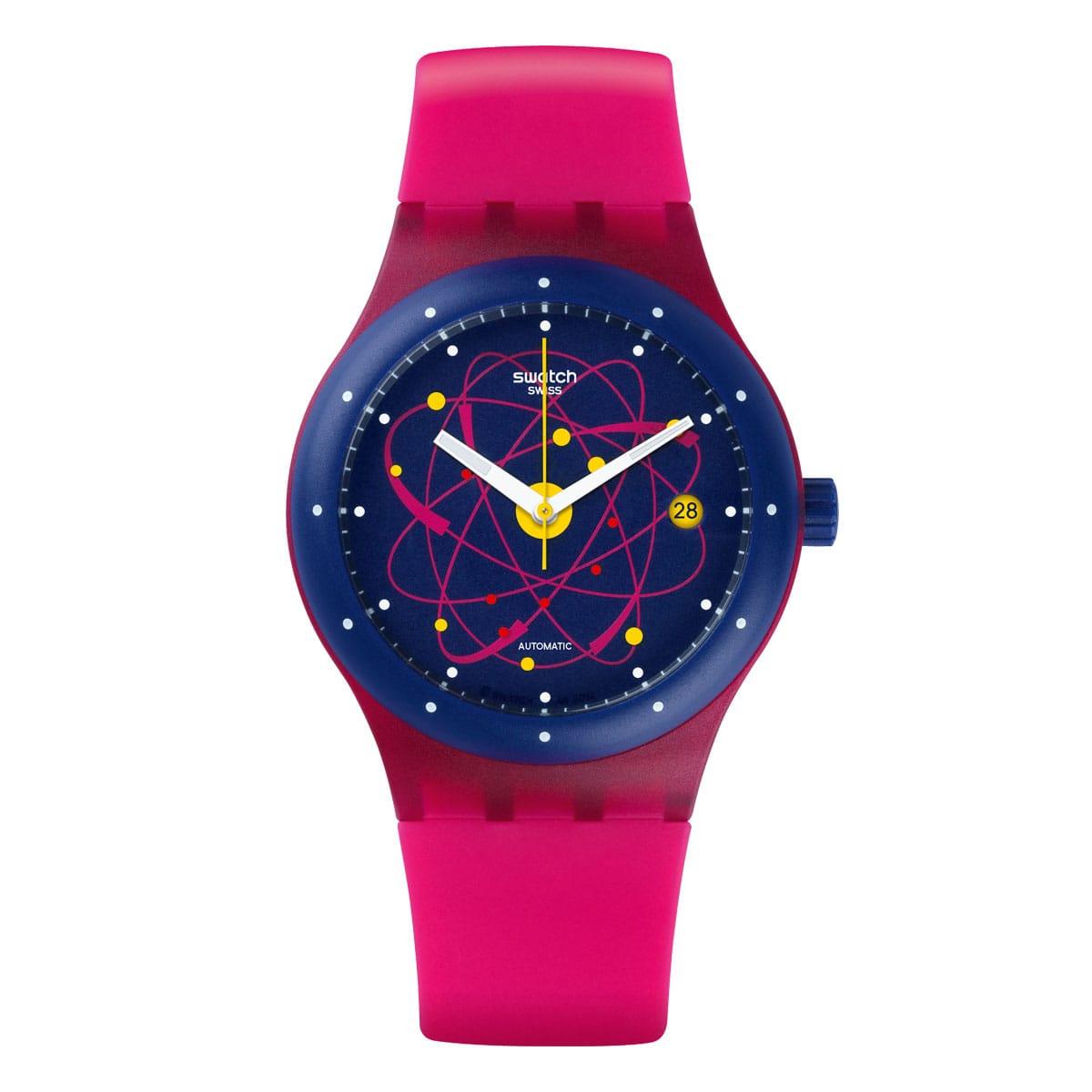 Swatch-Sistem-51-Pink-SUTR401 Lionel Meylan Horlogerie Joaillerie Vevey