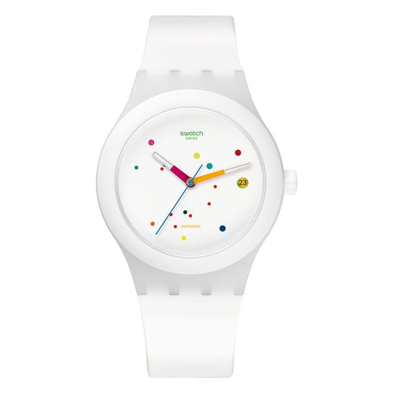 Swatch-Sistem-52-Sistem-White-sutw400. Lionel Meylan Horlogerie Joaillerie Vevey