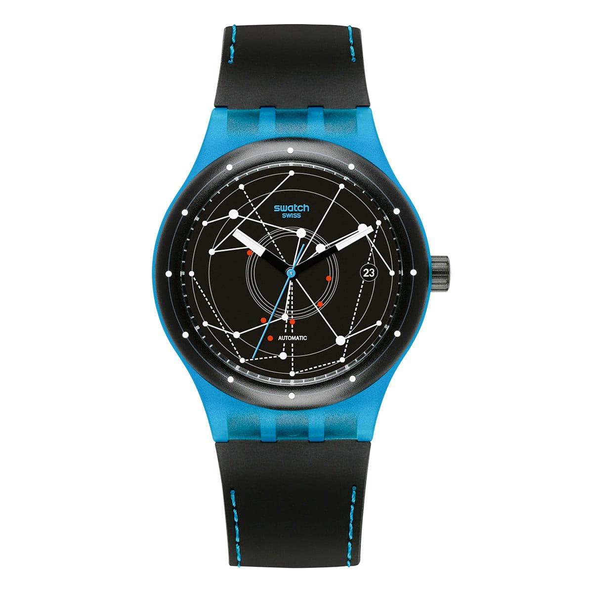 Swatch-Sistem51-Sistem-Blue-SUTS401 Lionel Meylan Horlogerie Joaillerie Vevey