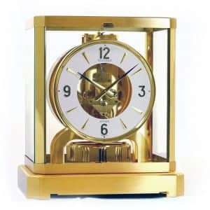 112322-Pendule-Jaeger-LeCoultre-Atmos-doree-cadran-blanc-montres-occasion-seconde-main-lionel-meylan-vevey