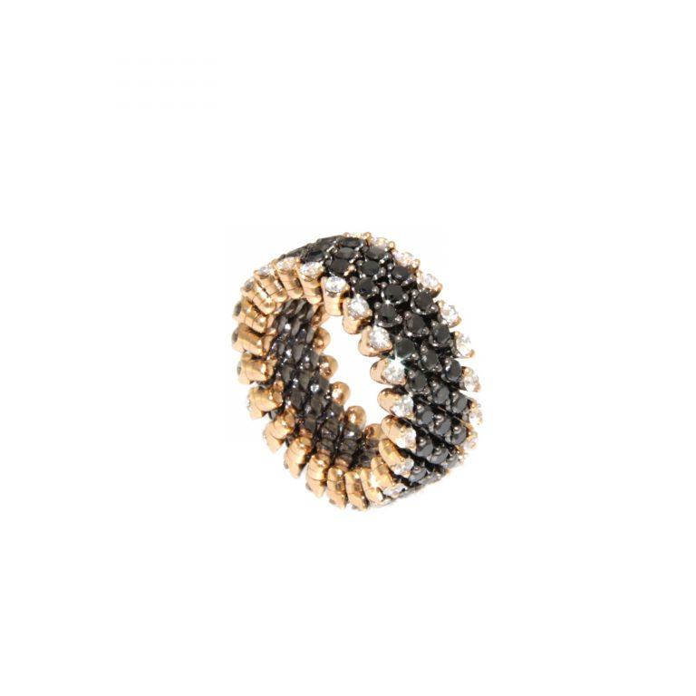 Serafino-Consoli-Bague-Brevetto-Diamants-noirs-Lionel-Meylan-Vevey