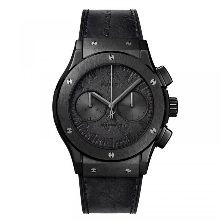 Montre-Hublot-Classic-Fusion-Chronograph-Berluti-Scritto-All-Black-521.CM_.0500.VR_.BER17-Lionel-Meylan-Horlogerie-Joaillerie-Vevey