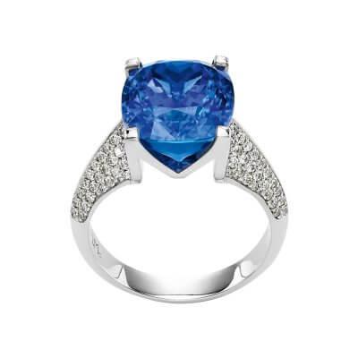 Bague-Lionel-Meylan-Creations-Tanzanite-diamants-or-blanc-Lionel-Meylan-Horlogerie-Joaillerie-Vevey