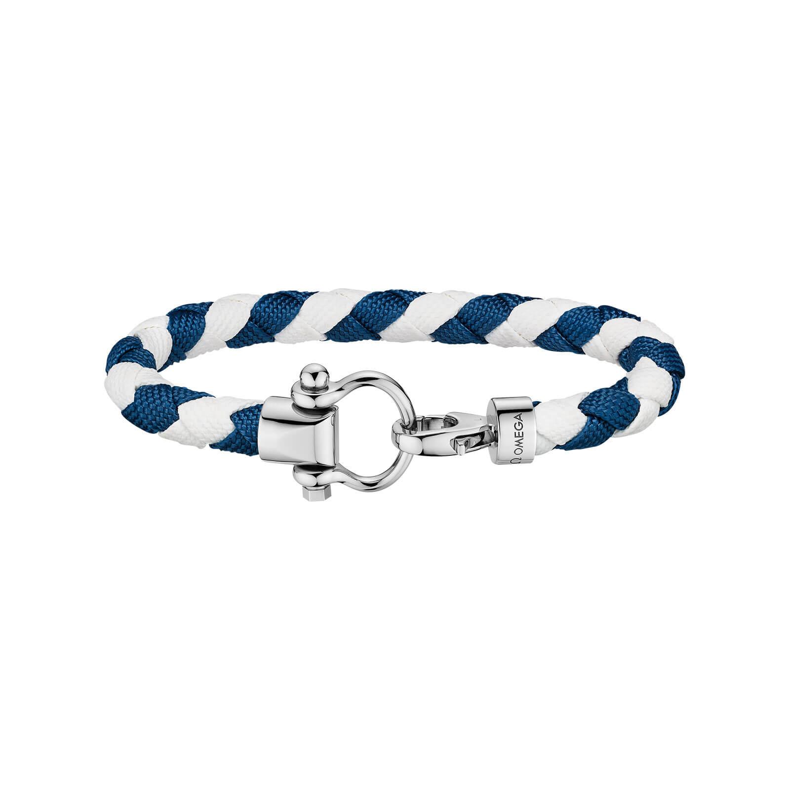 Bracelet Omega Sailing En Tissu Et Boucle Acier
