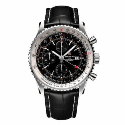 Montre-Breitling-Navitimer-chronograph-GMT-46-A24322121B2P1-Lionel-Meylan-horlgoerie-joaillerie-vevey-.